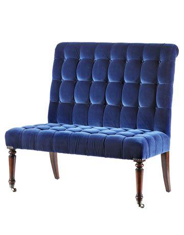 blue banquette
