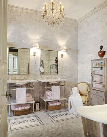 French Bathroom Style - French Bathroom Decor