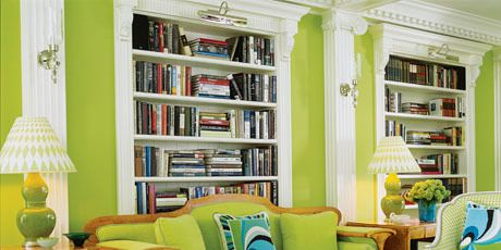 a green living room