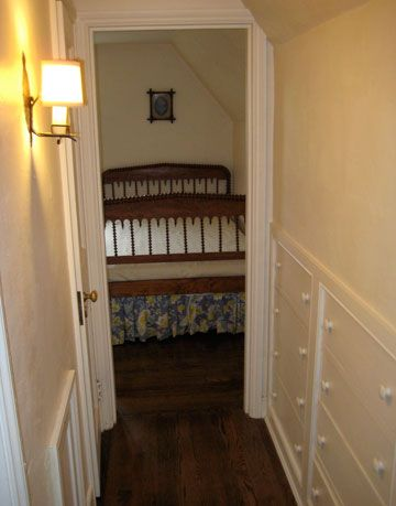 traditional corridor leading to a bedroom