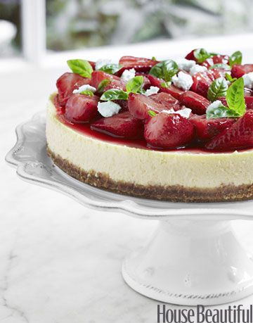 strawberry and basil goat cheese cake