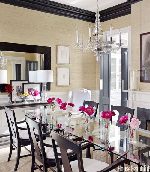 Simple Glamorous Dining Room   House Beautiful Pinterest Favorite Pins  January 31, 2014