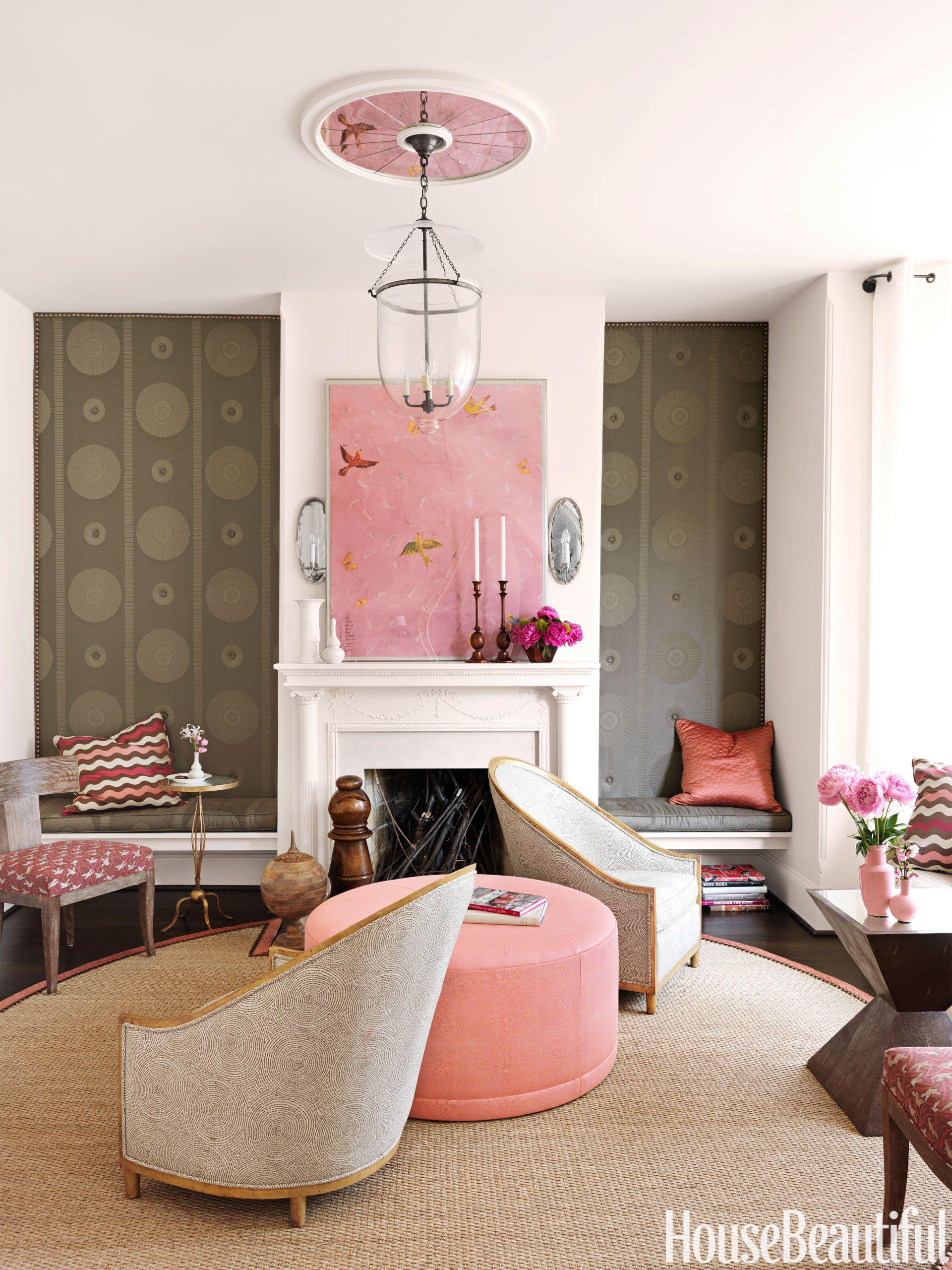 02 Hbx Pink Ottoman Dixon Happy Living Rooms