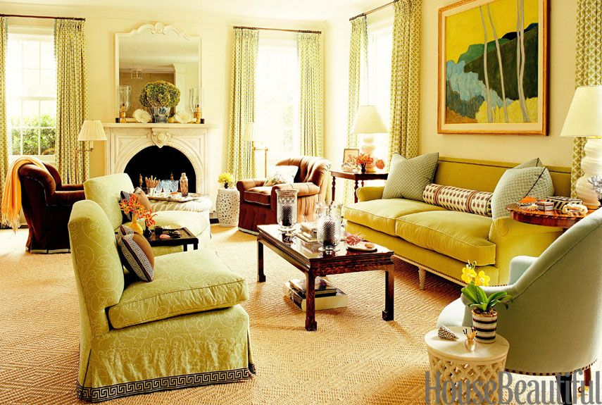 Green Living Rooms In 2016