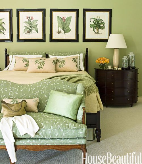 . 17 Dreamy Green Bedrooms   Green Paint Bedroom Ideas