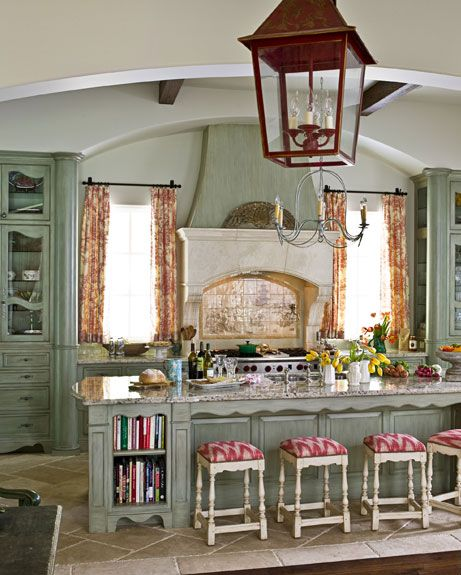 French Country Kitchen Green: Ideas For Green Kitchen Design
