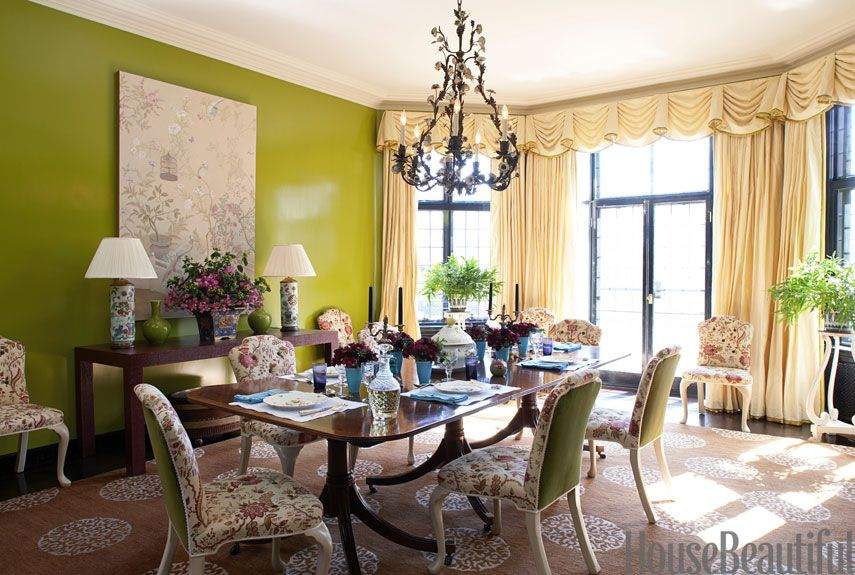 Green Dining Room Awesome Green Color Dining Room  Green Dining Room Pictures Inspiration Design