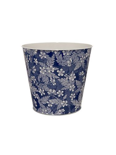 blue pattern pot
