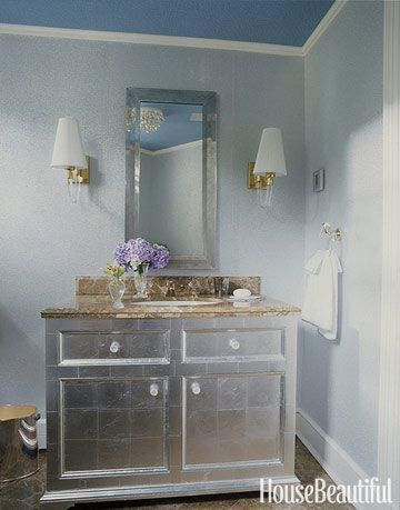 A Shining Silver Bathroom