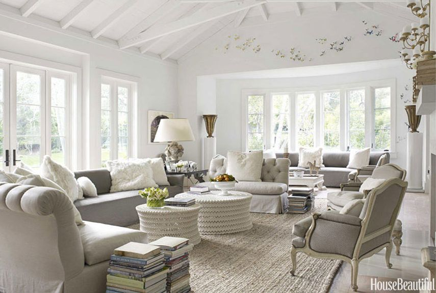 Gray Living Room Furniture Ideas Part - 44: House Beautiful