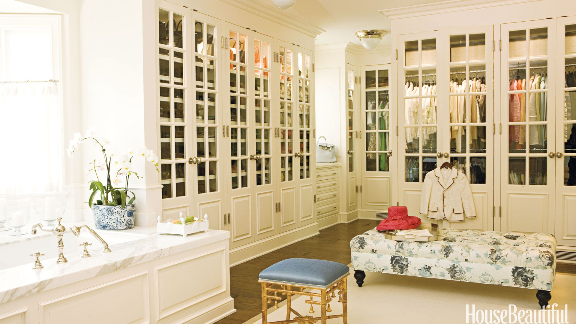 Dressing Room With French Doors