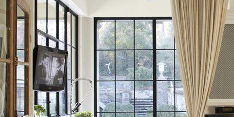 kitchen with casement windows