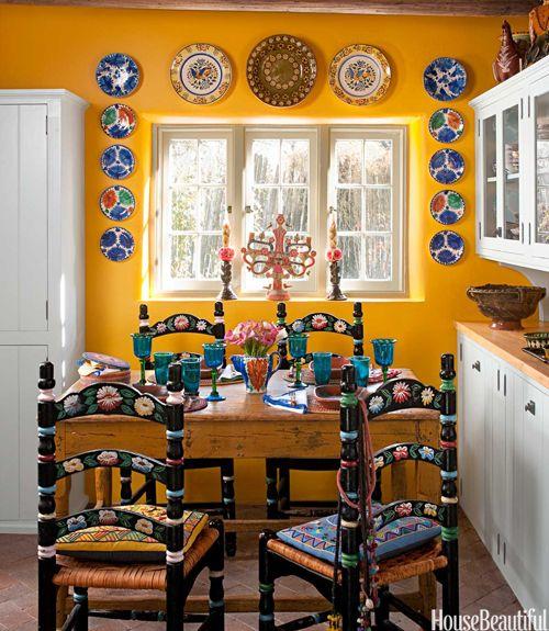 Yellow Kitchen With Santa Fe Style