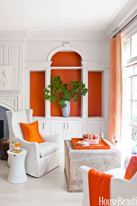 Living Room Eric Piasecki Orange Bookcase