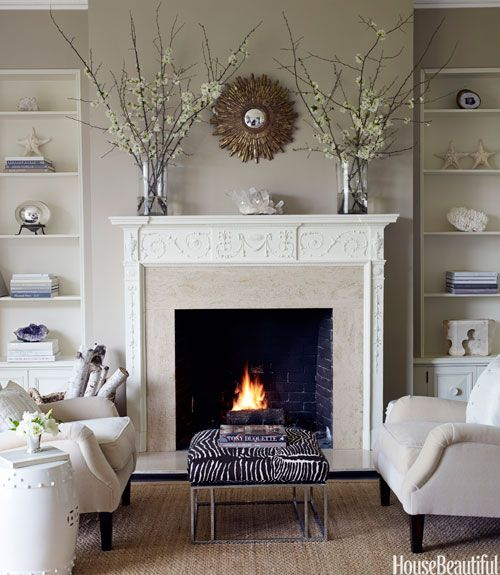 Decorating Ideas For Living Room With Fireplace Ideas cozy fireplaces - fireplace decorating ideas