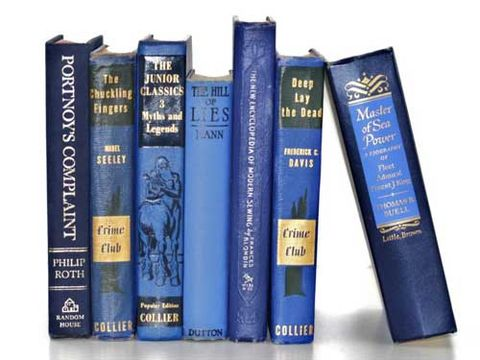 blue color coded books