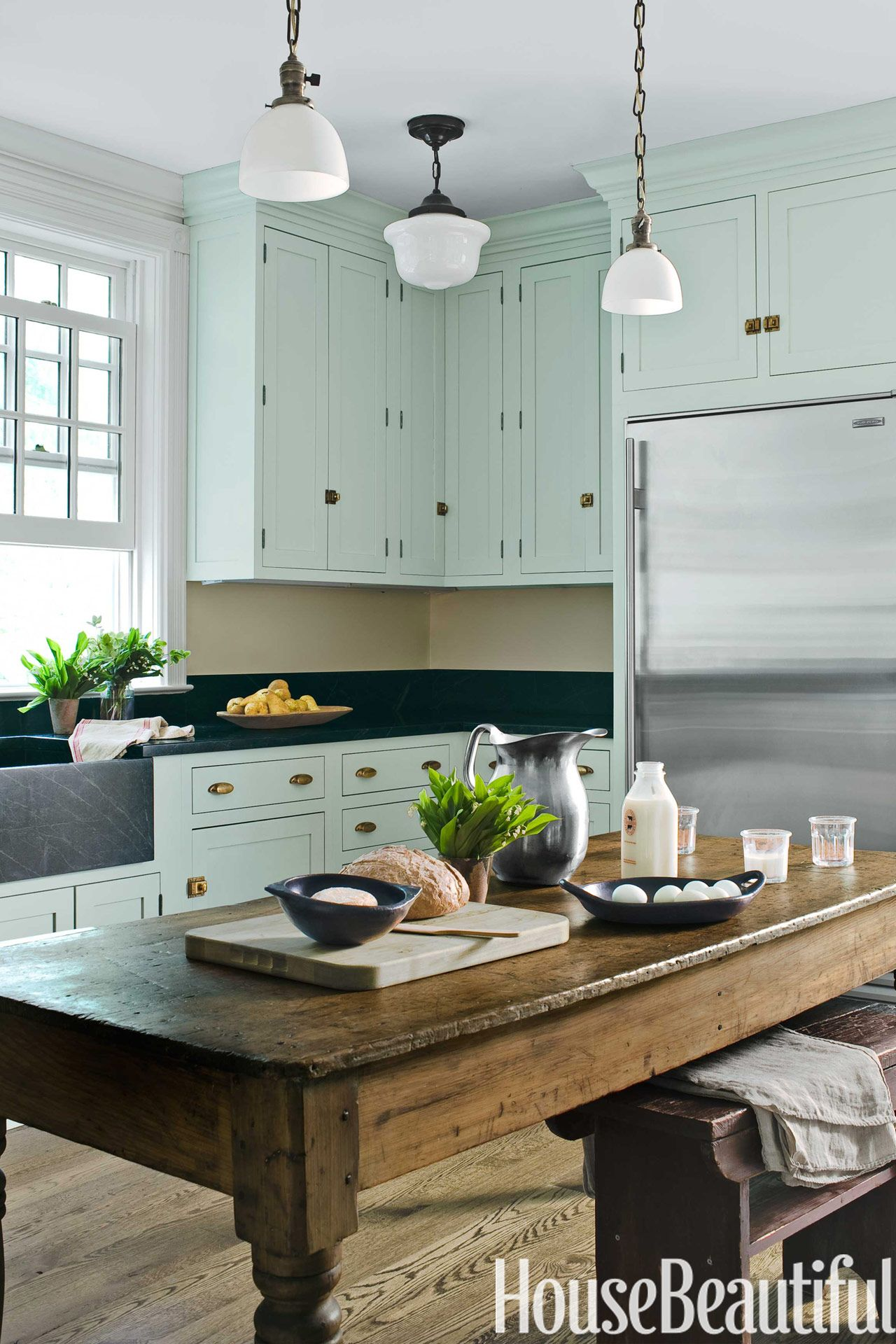 cleaning kitchen sink mint green farmhouse kitchen house beautiful 2237