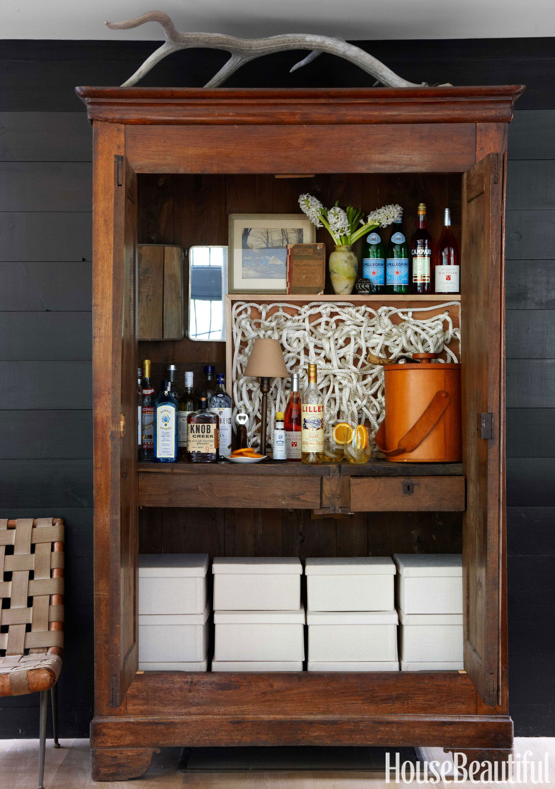 Bar Home Wooden Barmoire