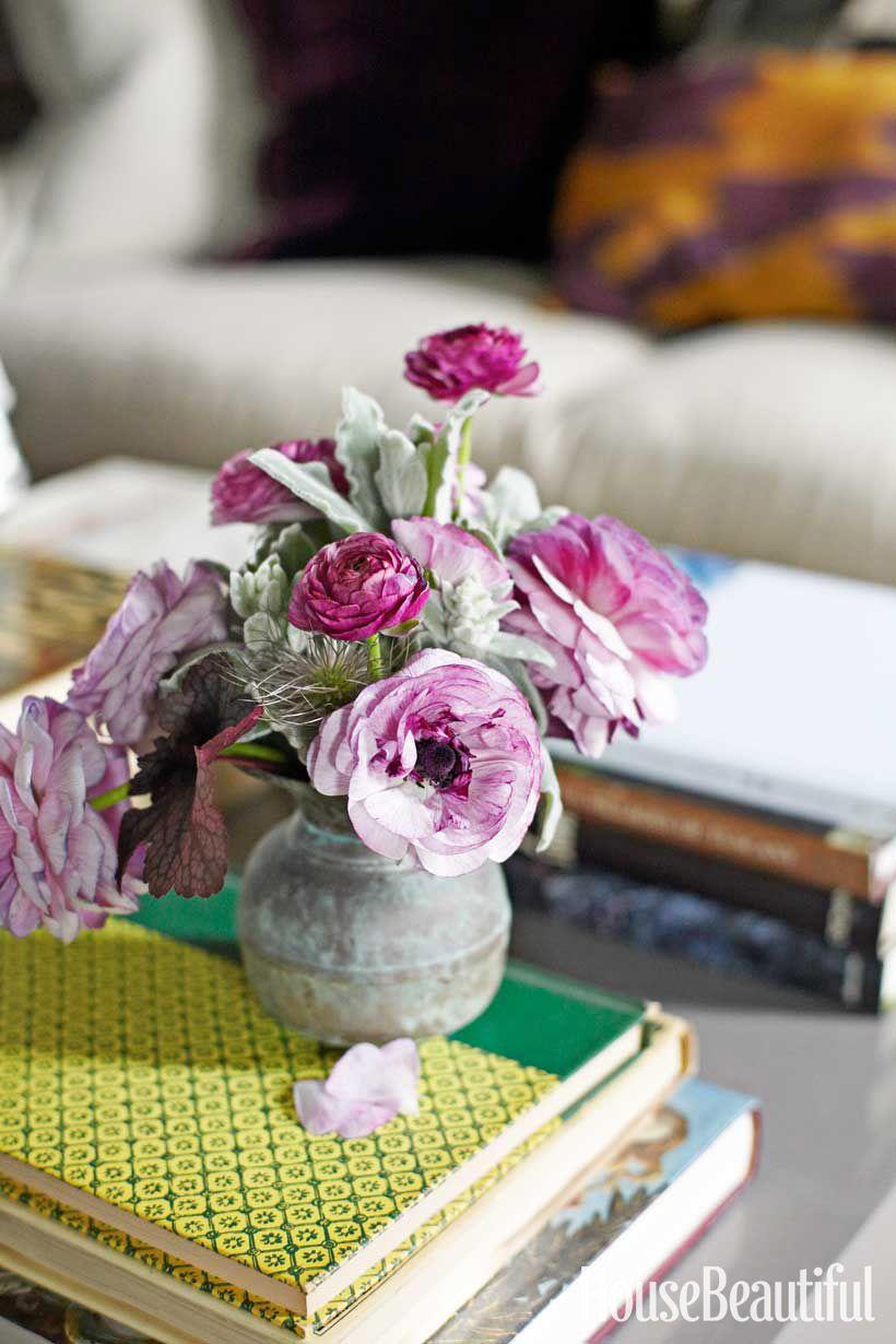 italian bronze vases and flowers