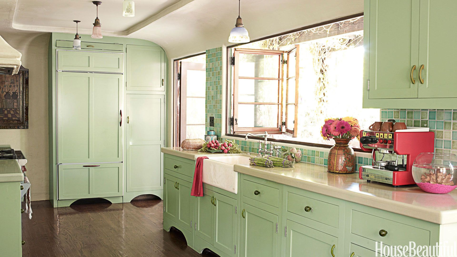 mint green kitchen cabinets & Popular Kitchen Paint and Cabinet Colors - Colorful Kitchen Pictures