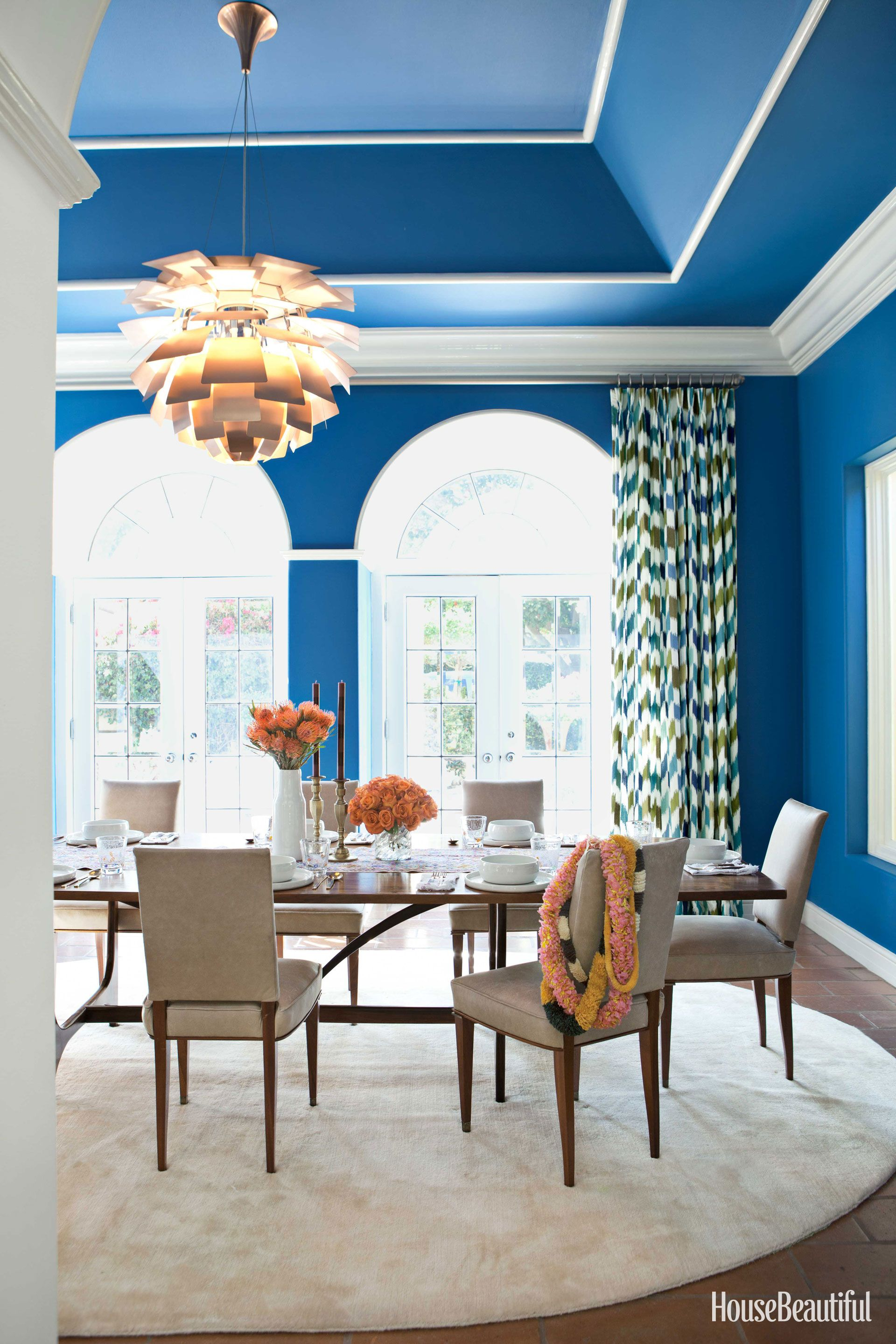 Electric Blue Dining Room