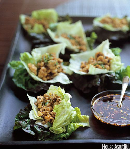 Jewels and Jill Elmore's Chicken-Lettuce Cups