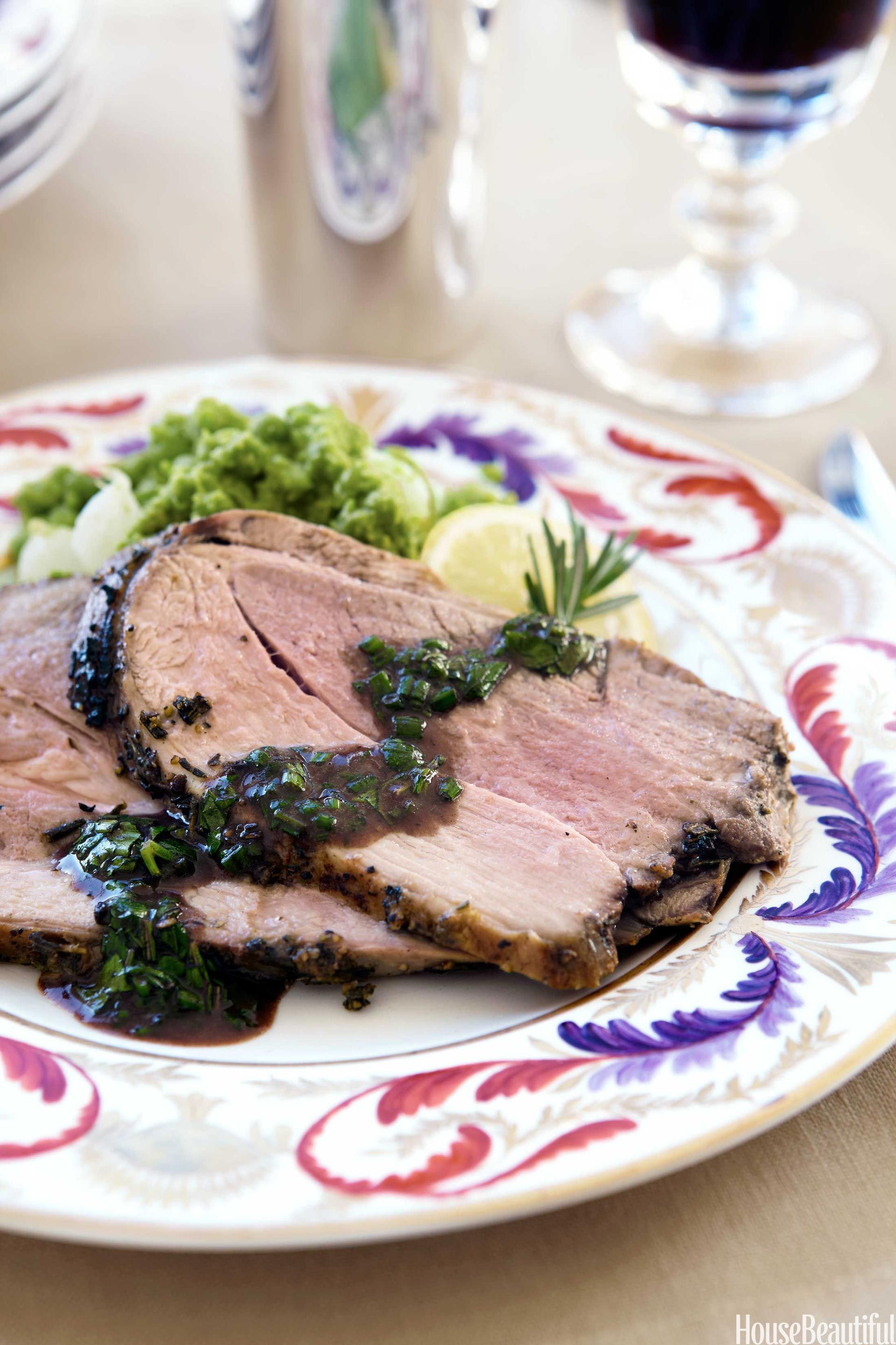 Alex Hitz's Roast Leg of Lamb and Mashed Peas