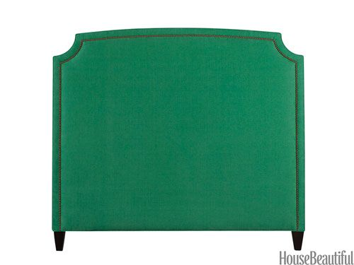 jade green upholstered headboard