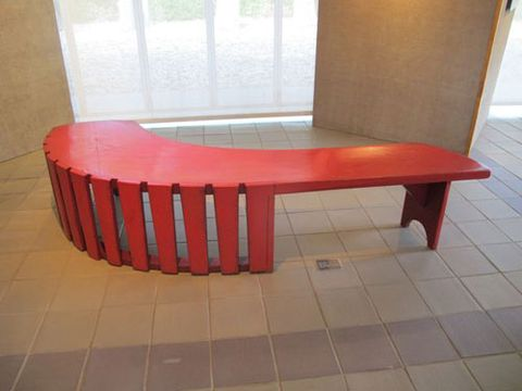 wharton esherick red bench
