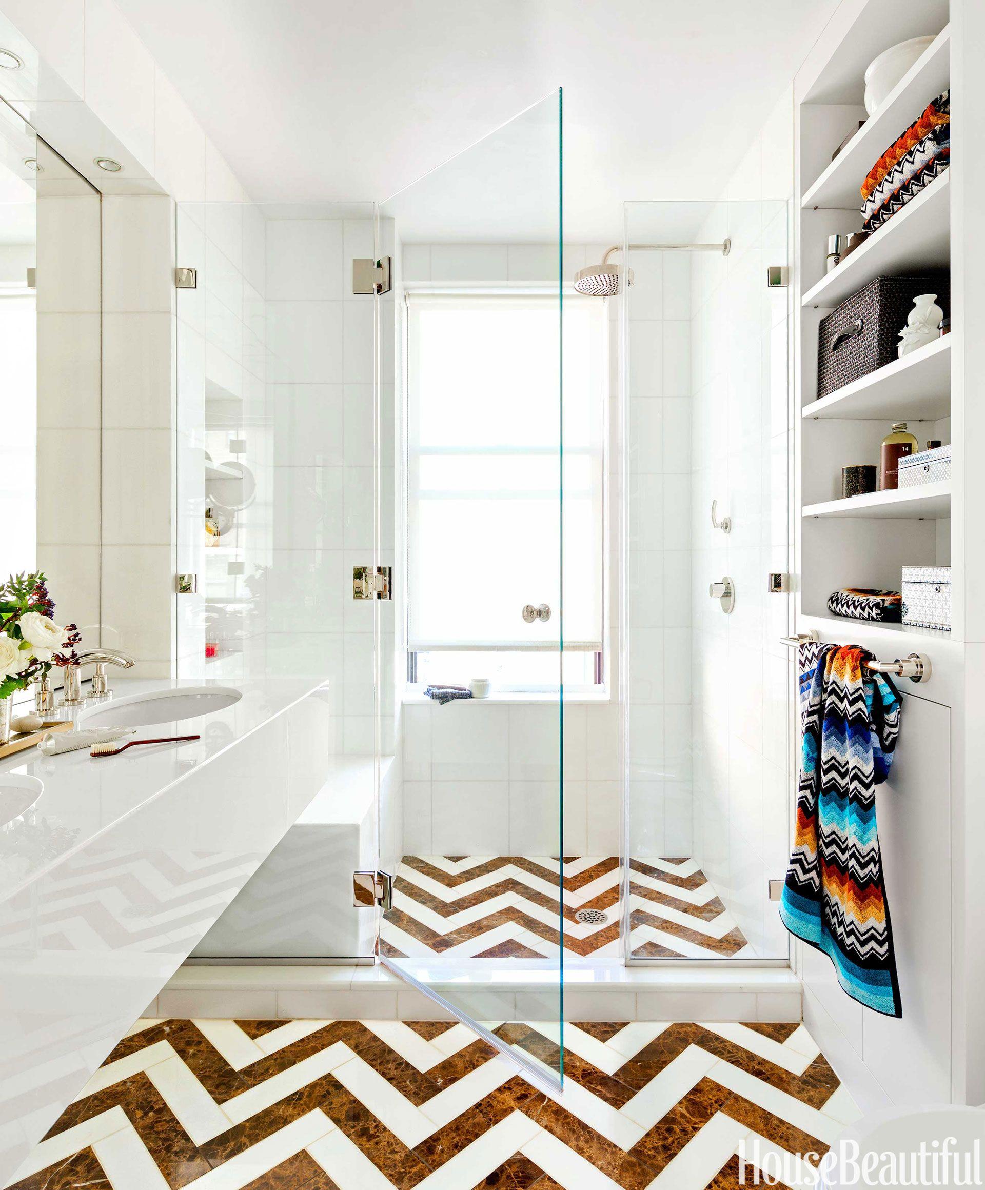Chevron bathroom tile chevron floor dailygadgetfo Choice Image