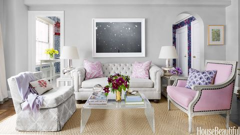 Small NYC Apartment Design - Lavender Decorating Ideas