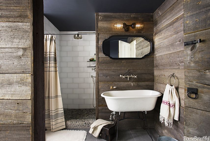Rustic Country Bathroom Decor - Barn Wood Bathroom