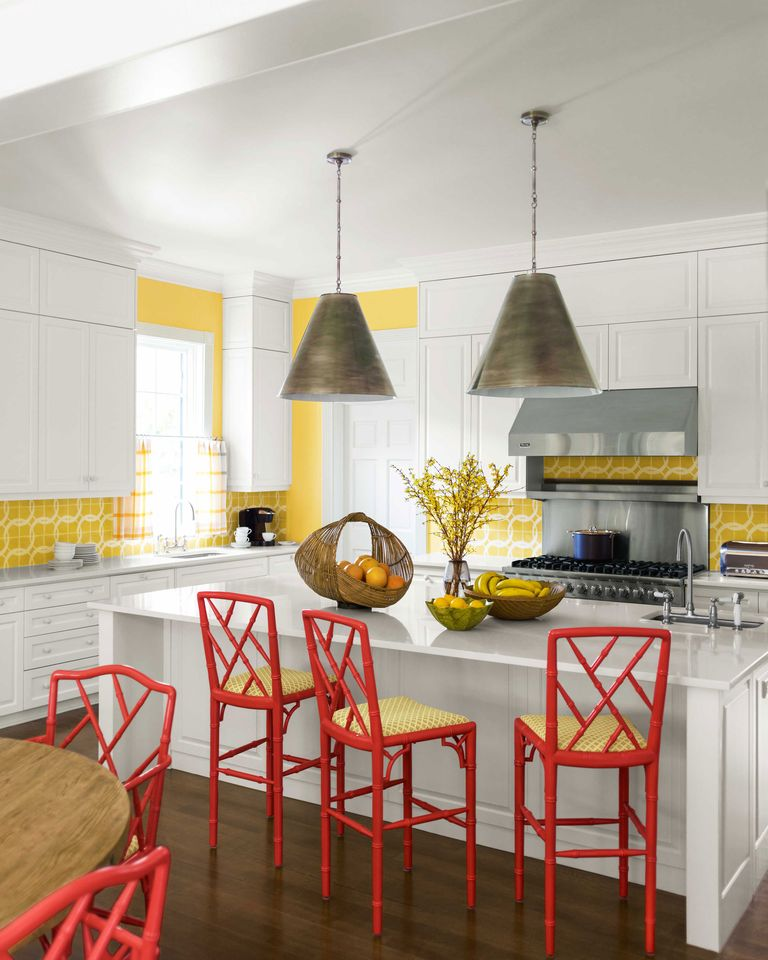 Red And Yellow Kitchen: 10 Yellow Kitchens Decor Ideas