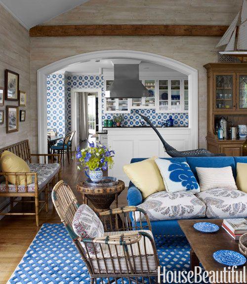 Blue Corduroy Sofa