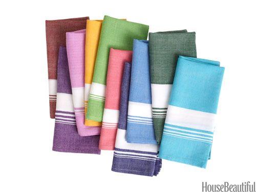 woven color napkins