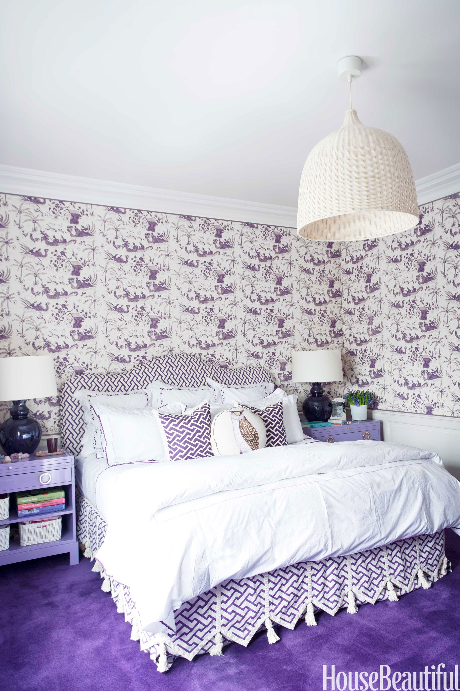 10 Purple Bedroom Ideas Lavender And Lilac Decor Ideasrhhousebeautiful: Purple Bedroom Decor At Home Improvement Advice