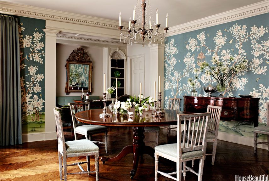Traditional Style Rooms Traditional Decorating Ideas - Dining room decorating ideas wallpaper