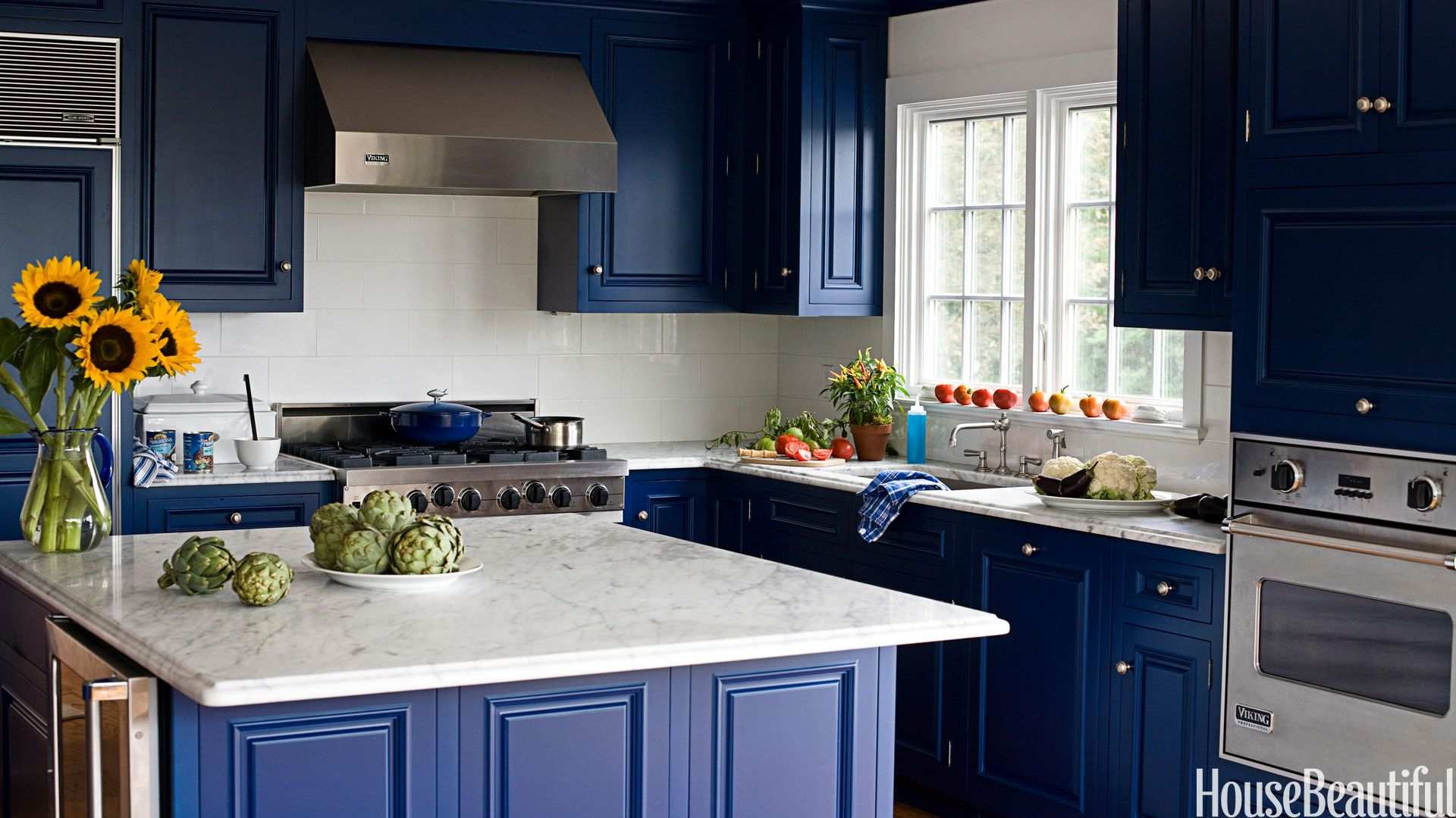 Blue Kitchen Walls 20 Best Kitchen Paint Colors  Ideas For Popular Kitchen Colors