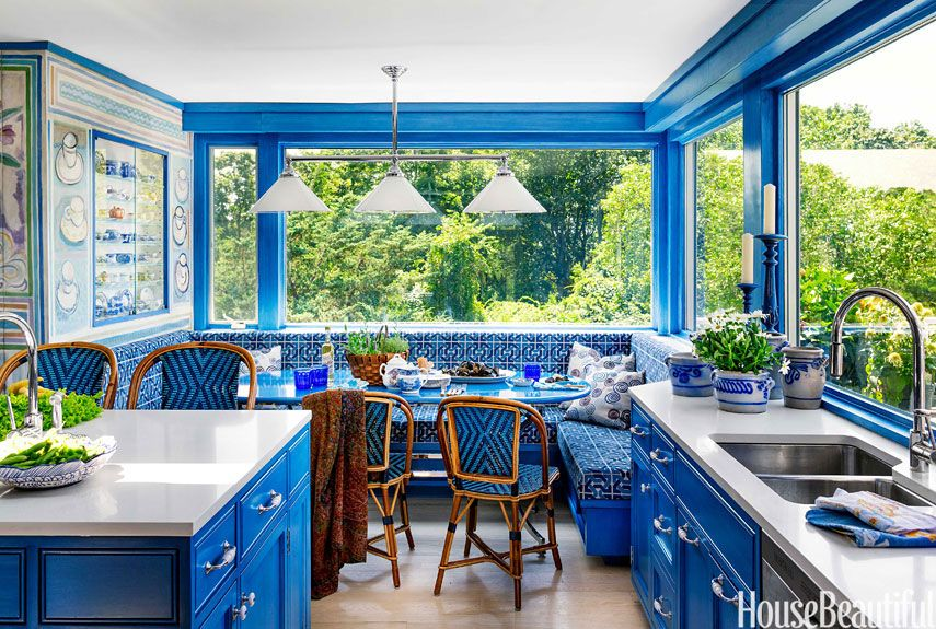 blue kitchen colors.  Popular Kitchen Paint and Cabinet Colors Colorful Pictures