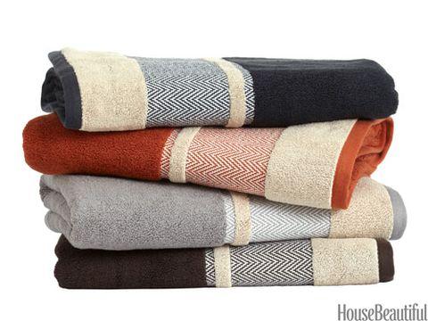 herringbone bath towels