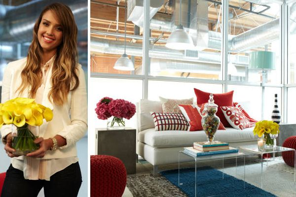Jessica Alba's Tip for Bringing Color Into Your Home Office