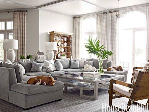 gray chenille sofa