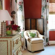 connie newberry red bedroom