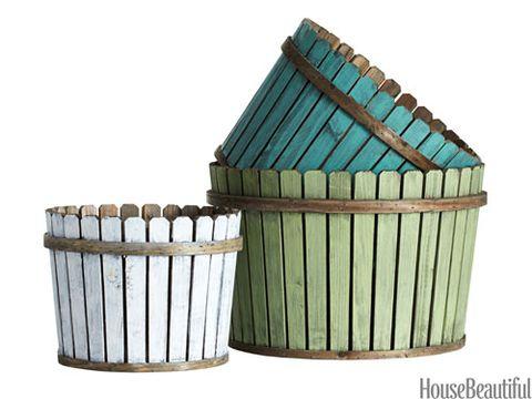 picket fence baskets