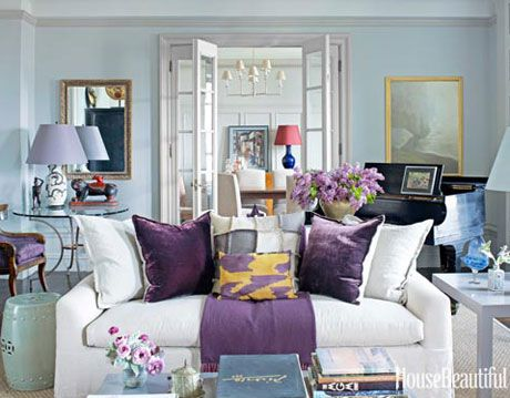 Purple Design Accents - Month of Living Rooms