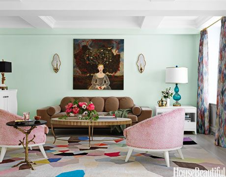 Gentil Mint Green Living Room