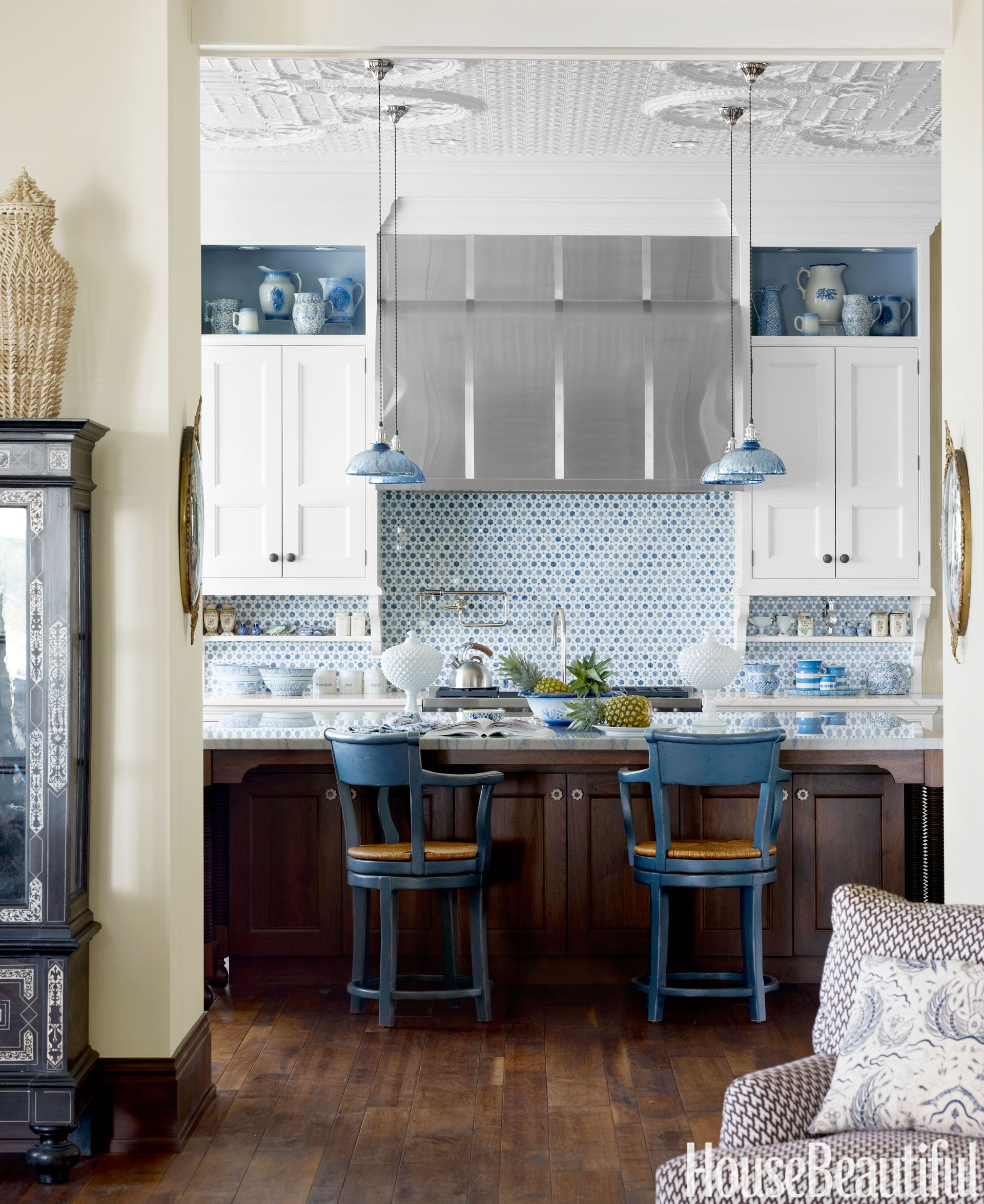 Blue Kitchen Pendants