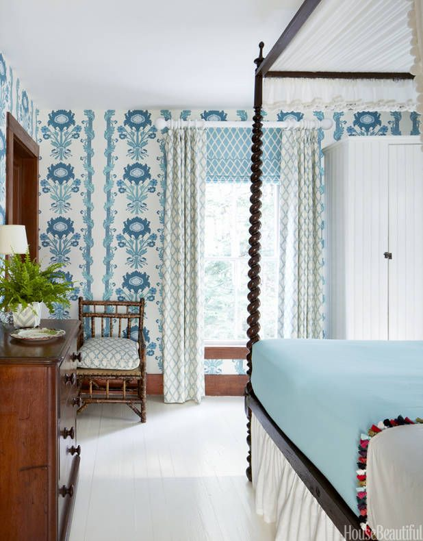 Blue And White Decorating Blue And White Rooms - Blue and white bedroom ideas
