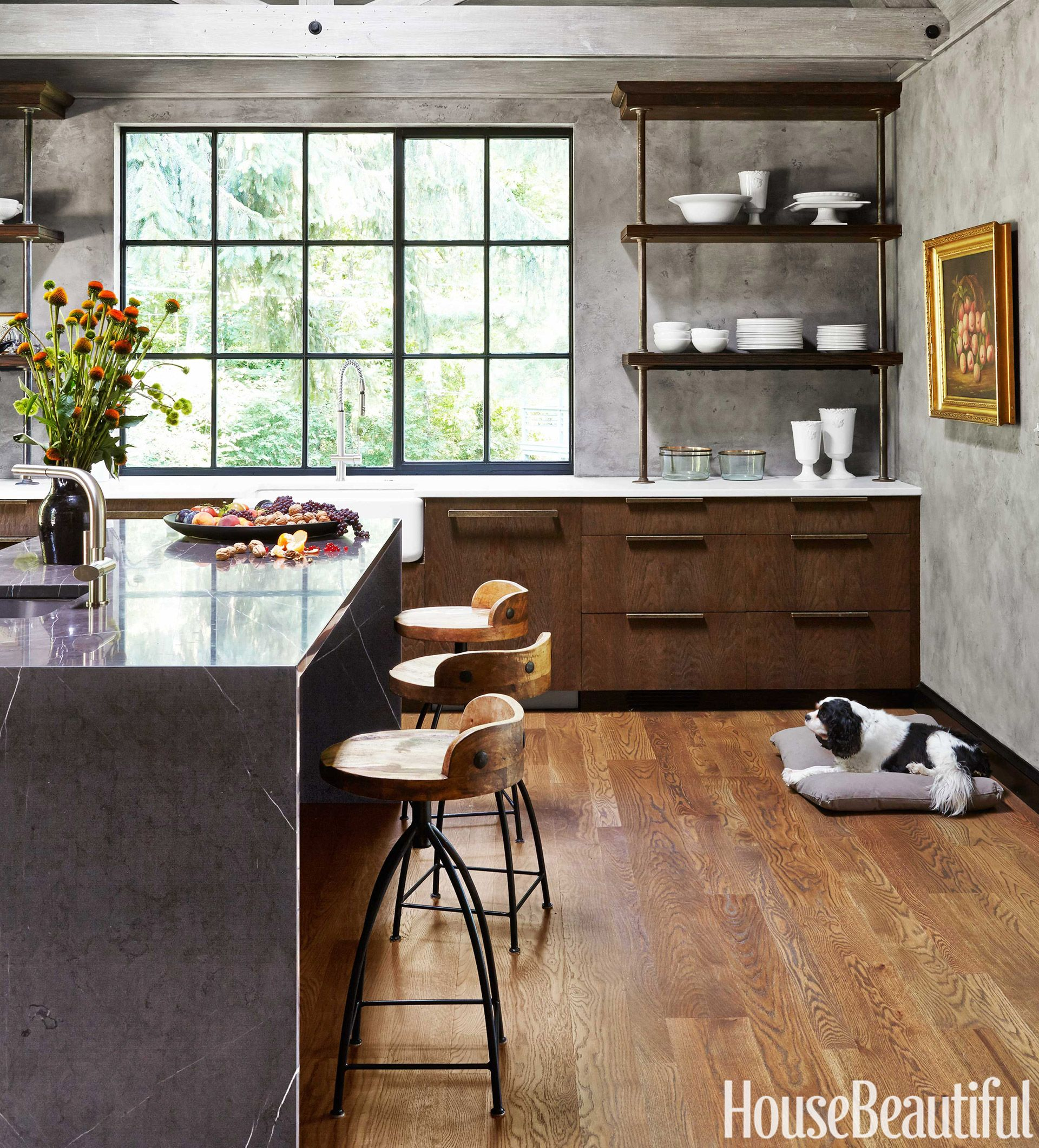 Wire Brushed Oak Cabinets