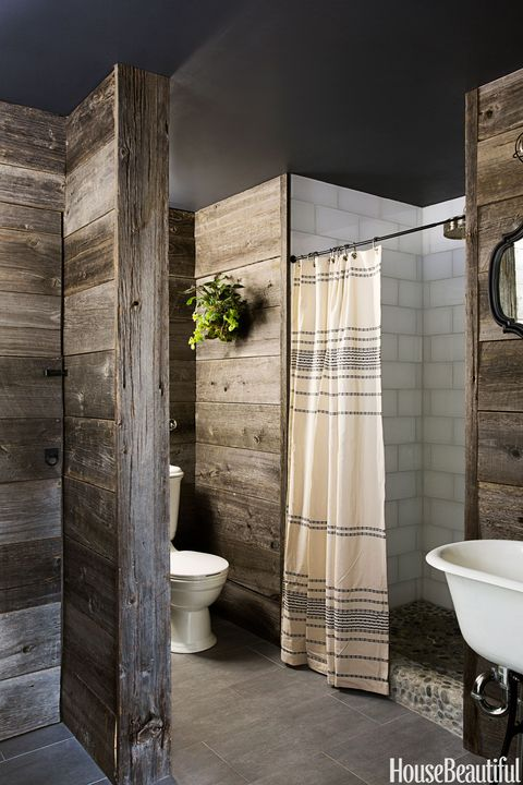 rustic country bathroom